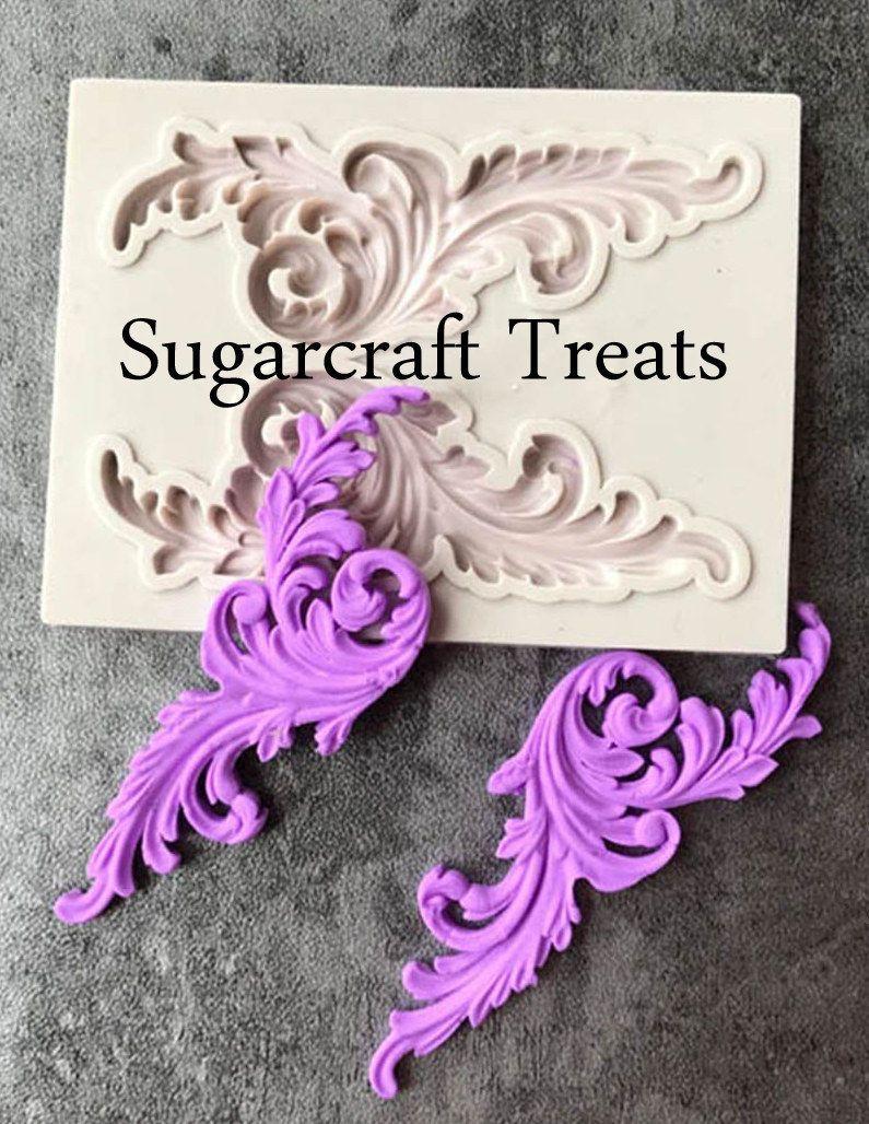 Retro Scroll Relief Borders Silicone Cake Topper Fondant Mold Sugarcraft Mould