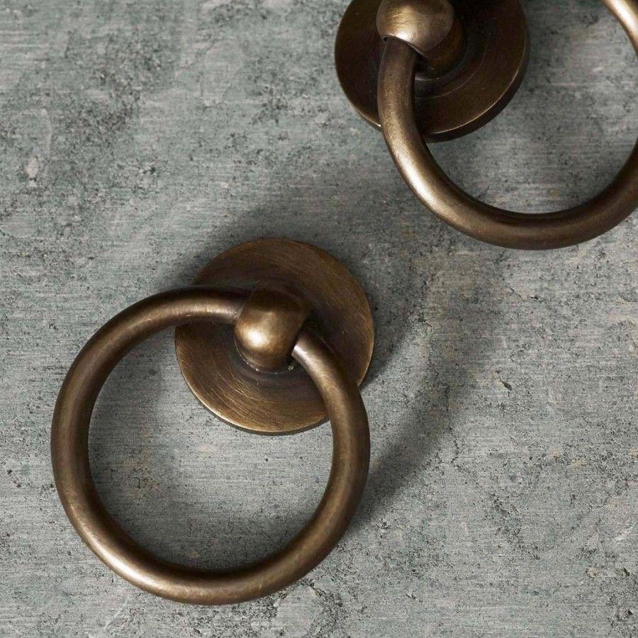 Grove Cabinet Ring Pull Brass Kitchen Hardware Brass Cabinet Hardware Hardware