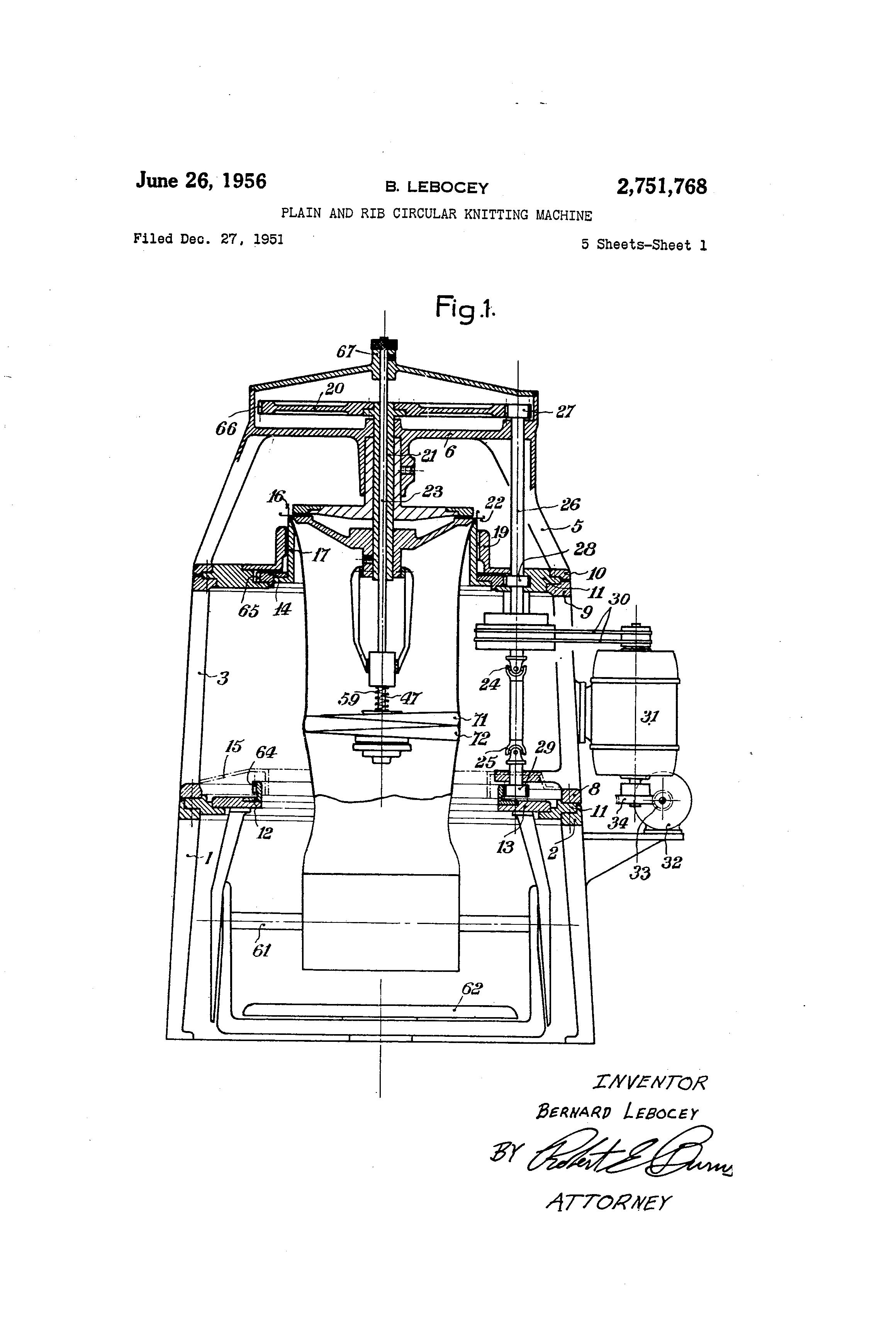 Bonneterie LEBOCEY Machines et Aiguilles pour le Bonneterie