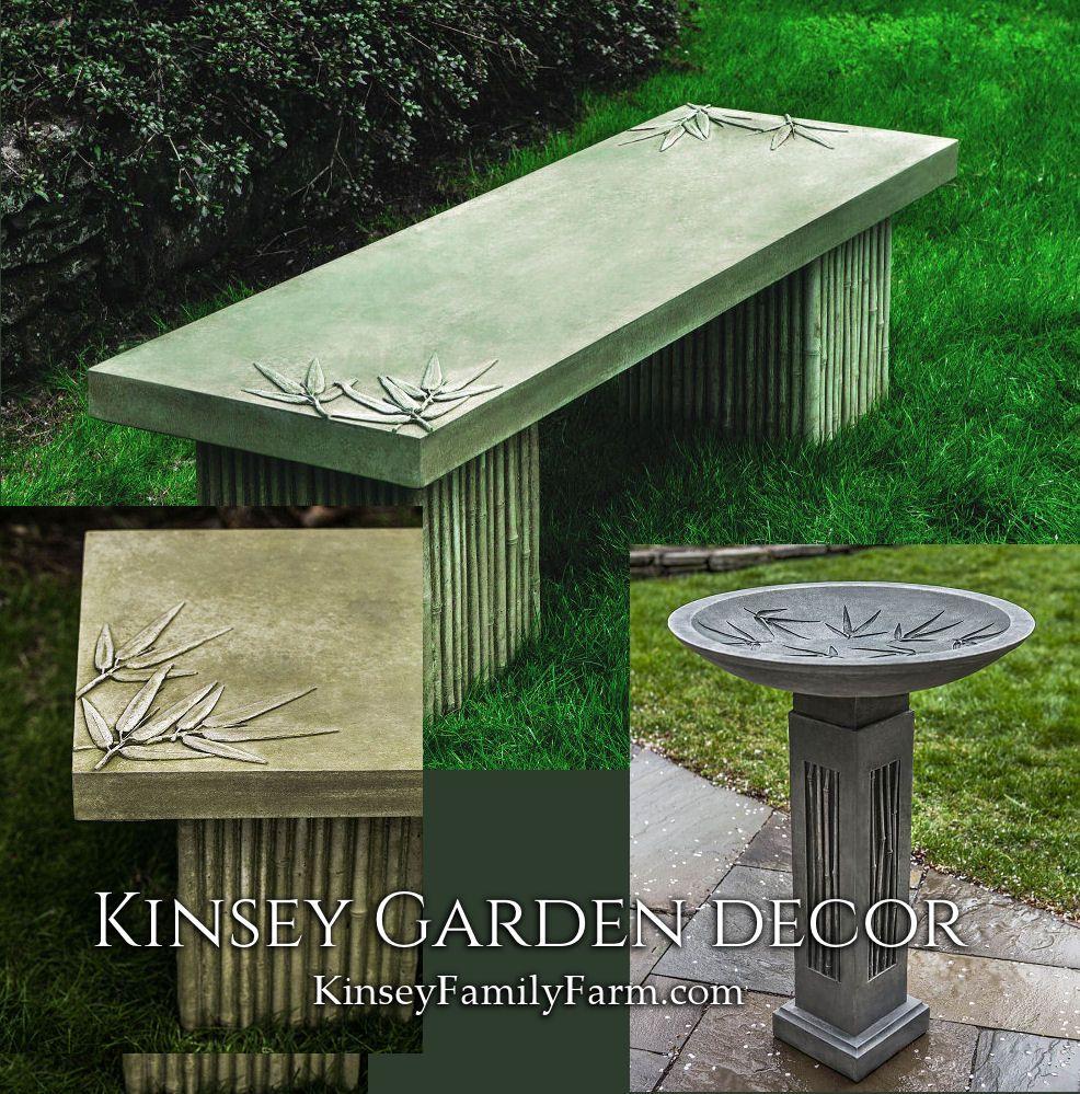 Kinsey garden decor sagano forest japanese bamboo patio set for zen outdoor accents decorative bench