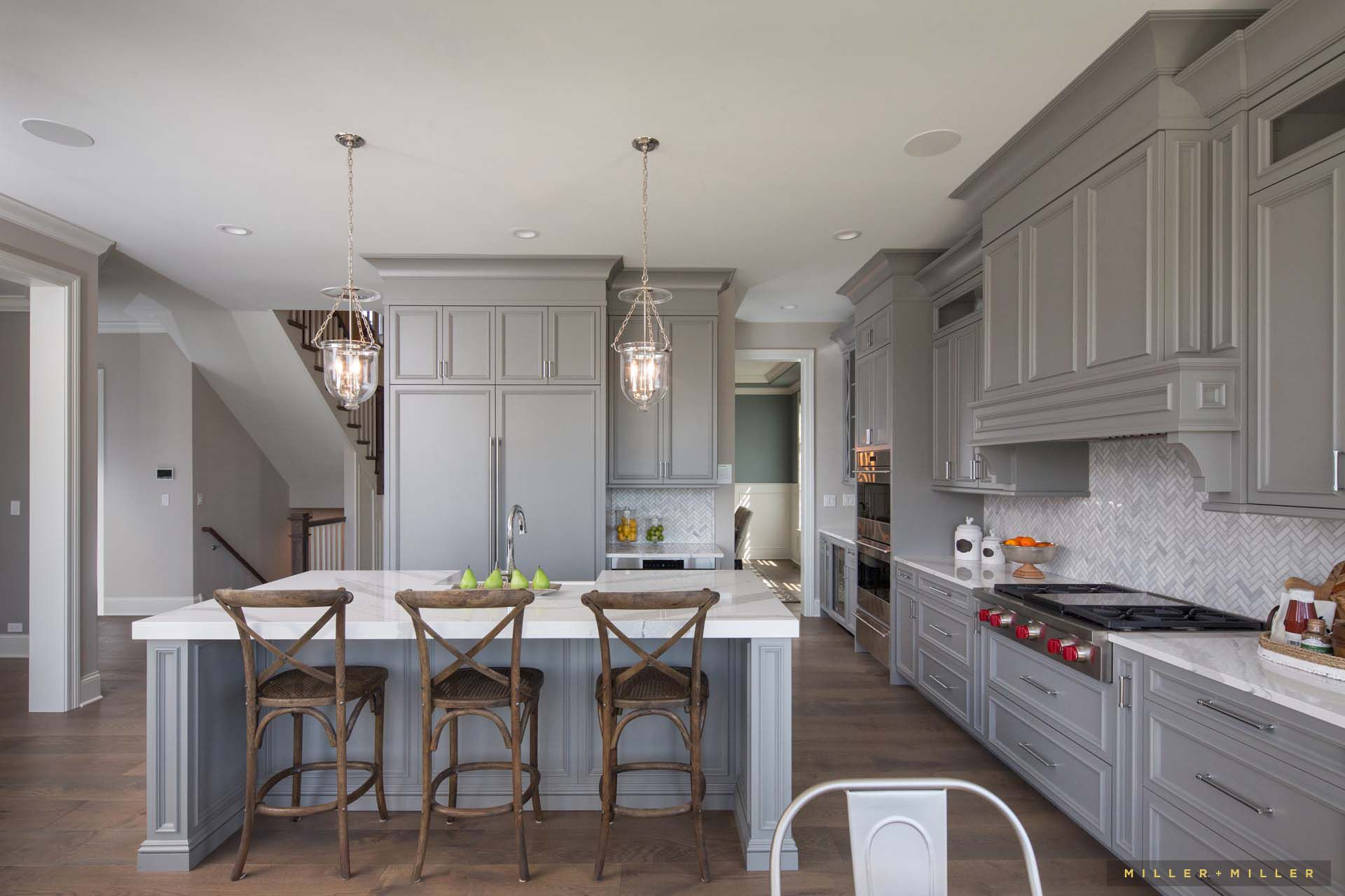 like the gray and white color scheme like the light fixtures modern farmhouse kitchens on farmhouse kitchen grey cabinets id=62349