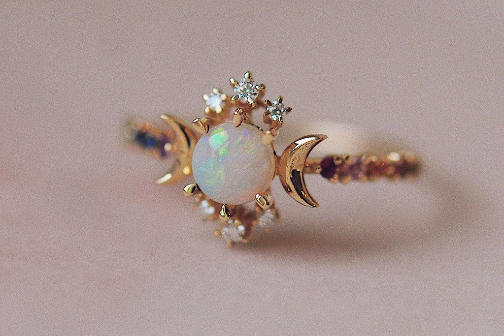 5fe56df90b2913 Rainbow Wandering Star Ring in 2019 | Jewelry wants | Star ring ...