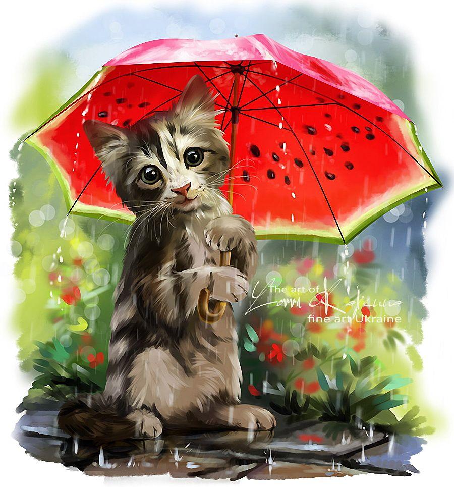Открытки с дождем и шутливыми, анимация вау черно-белая