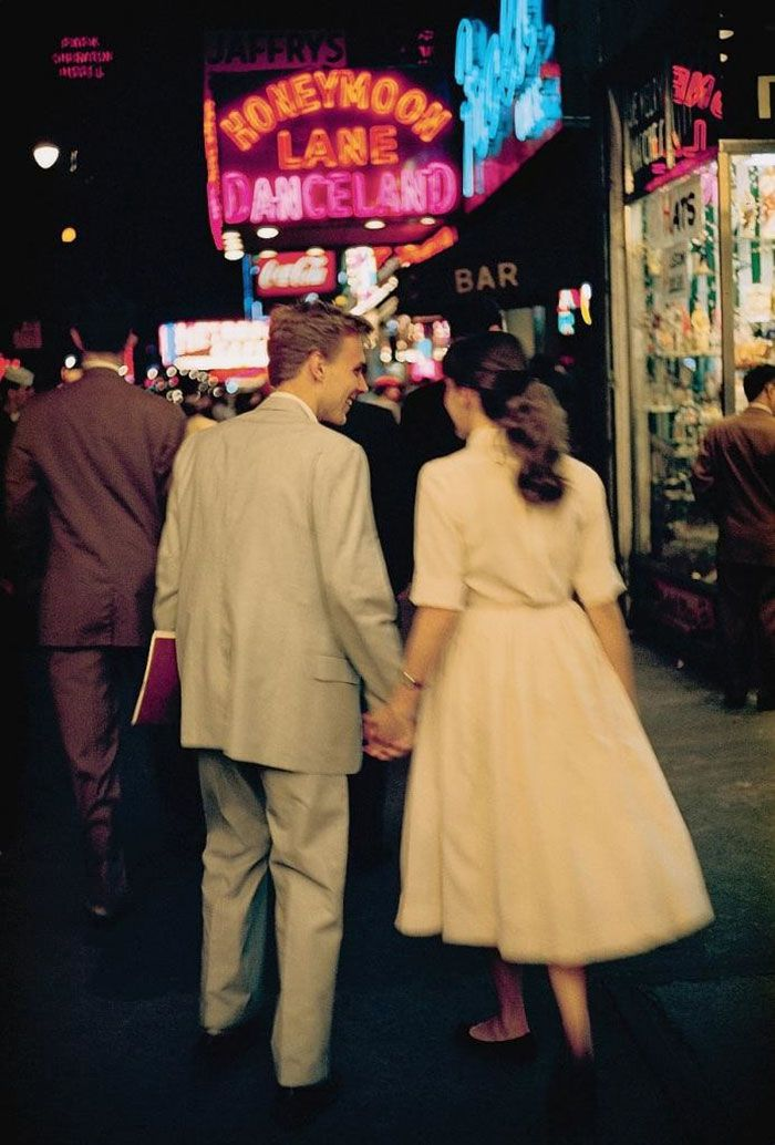 Young Couple On A Date In New York City (1957)