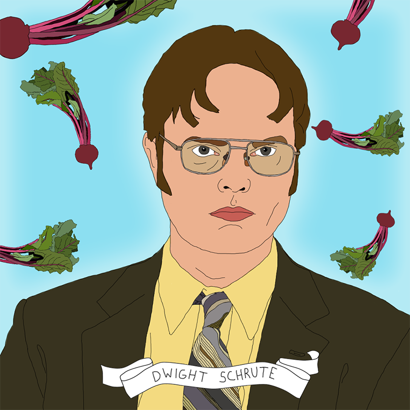 Dwight Schrute The King Of Beets Theoffice Office Art Dwight Schrute The Office