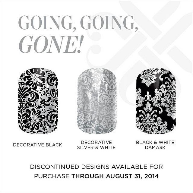 Jamberry Nail Wraps retiring August 31st, Get them now before they're gone! http://leana.jamberrynails.net/category/going-going-gone