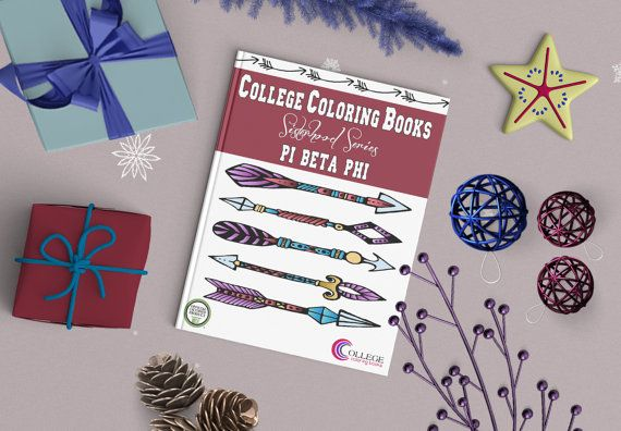 Pi Beta Phi Coloring Book By Collegecoloring