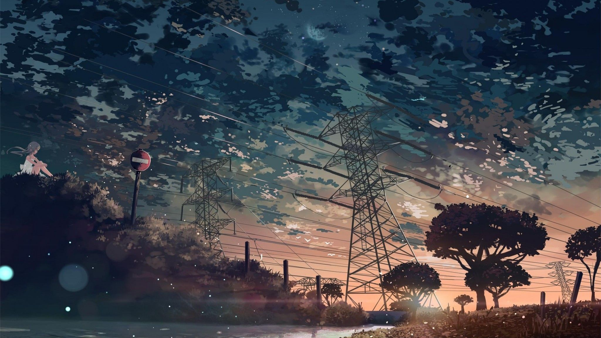 Landscape Beautiful Girl Anime Summer Anime Scenery Scenery Wallpaper Anime Scenery Wallpaper