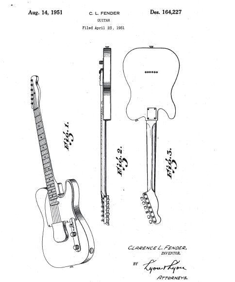 original sketch for the fender telecaster  telecaster