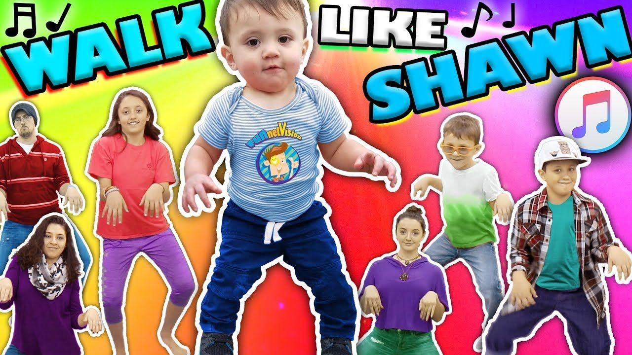 ♫ WALK LIKE SHAWN ♫ Music Video for Kids ♬ Dance