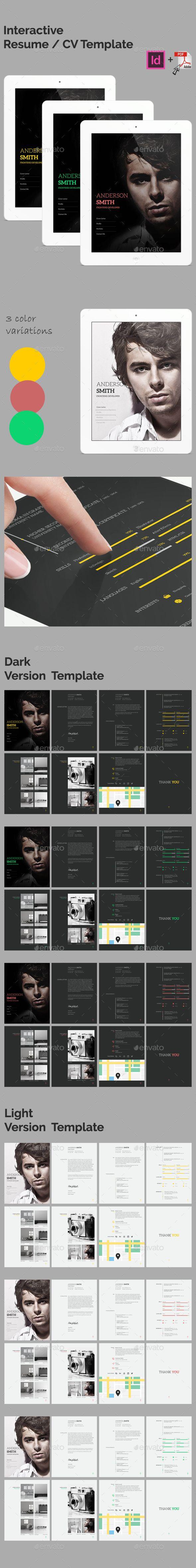 Interactive Resume Multipurpose E Book Cv Template