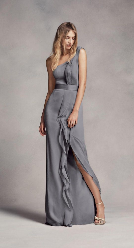 b3cd98aa510f1 grey bridesmaid dress by White by Vera Wang