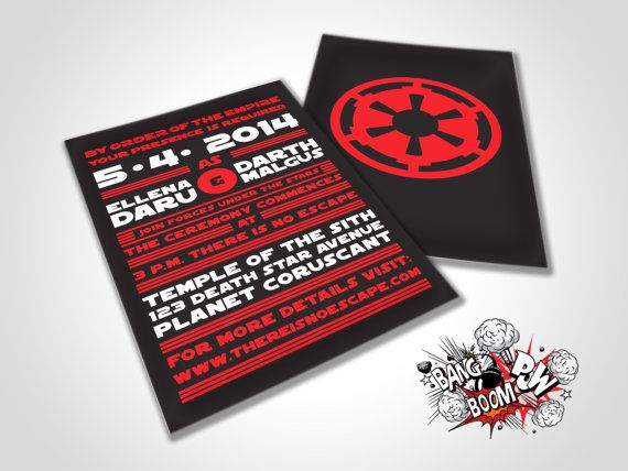 There is No Escape Star Wars Themed Wedding by BangBoomPowDesign