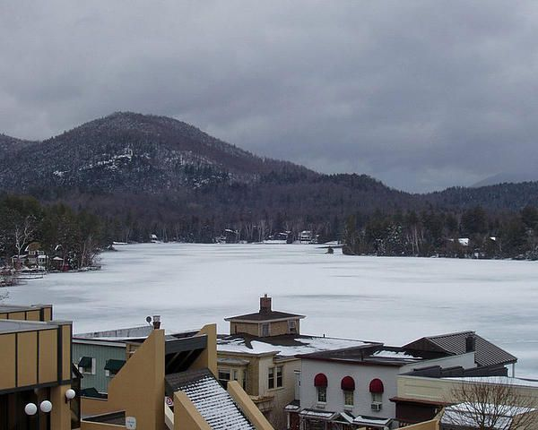 A snow storm on Lake Placid ©John Telfer