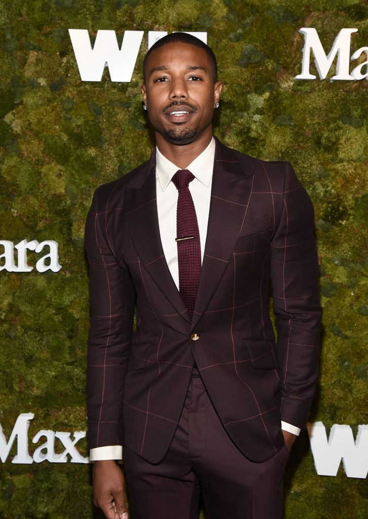 fa2561d4 Michael B Jordan Wears Burgundy Vivienne Westwood Suit | This is a ...