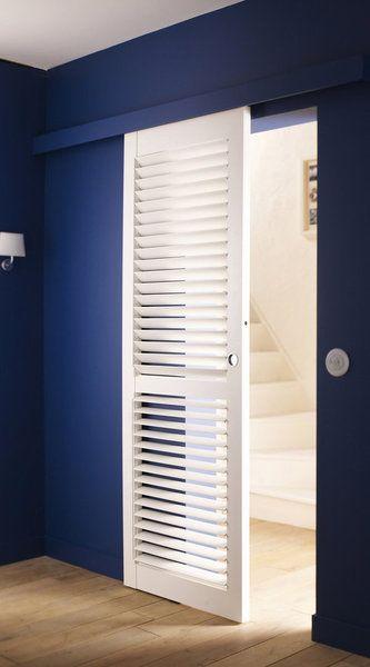 Une porte coulissante futée avec ses lames orientables Système pour - pose de porte coulissante