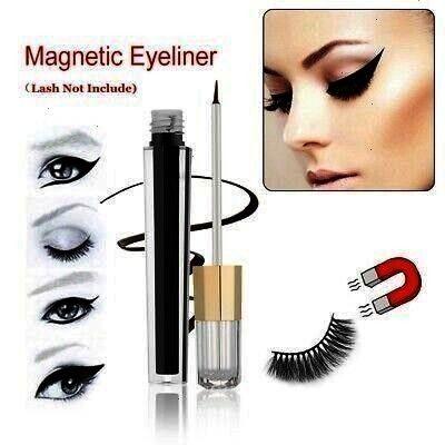 proof Magnetic Eyelashes Magnetic Eyeliner Liquid Black Gel        Glue Needed Sweat proof Magnetic