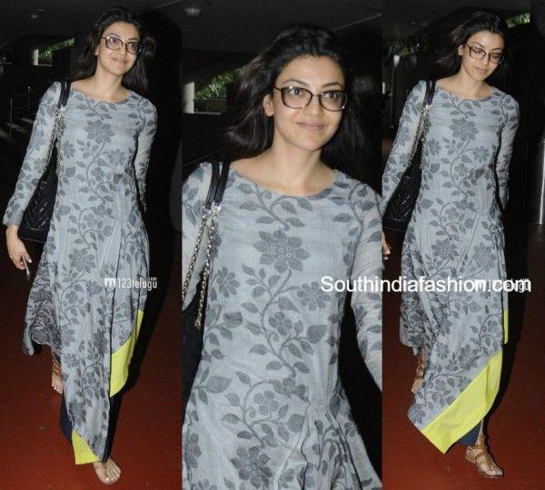 Kajal Aggarwal In Debashri Samanta South India Fashion Casual Indian Fashion Silk Dress Long Traditional Outfits