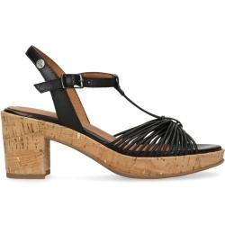 Schwarze Sandaletten mit Korksohle (36,37,38,39,40,41,42)