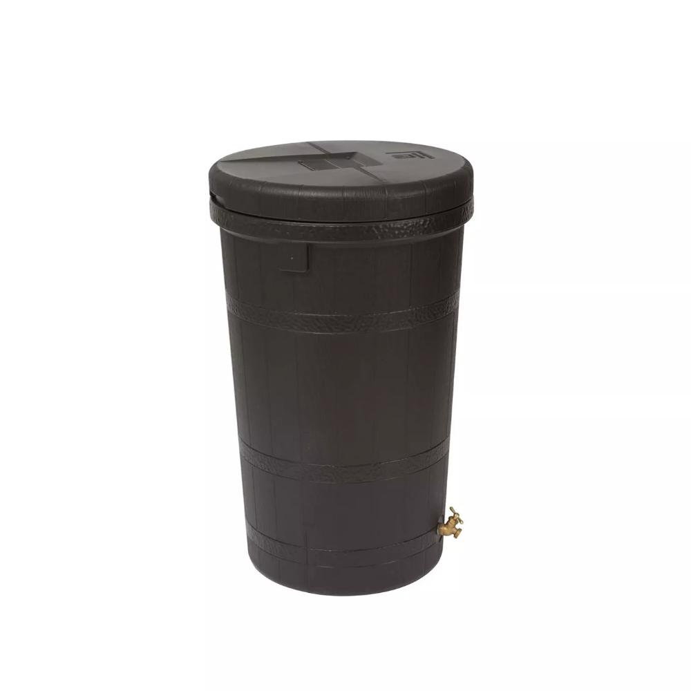 Good Ideas Aspen Eco 50 Gallon Rain Barrel Rain Collector Saver W Brass Spigot In 2020 With Images
