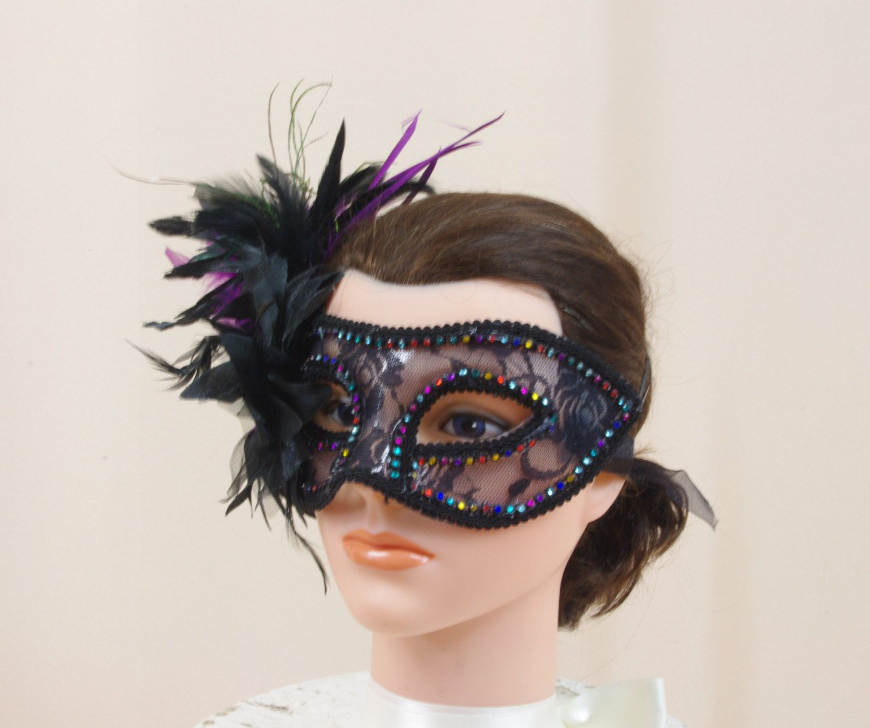 Masquerade Mask * Party Mask * Black Mask * Mardi Gras Mask * Ball ...