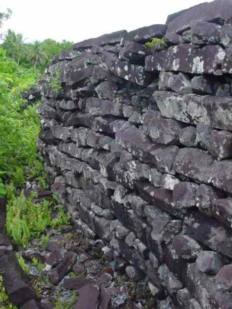 Mysterious Ruins of Nan Madol in the Pacific.