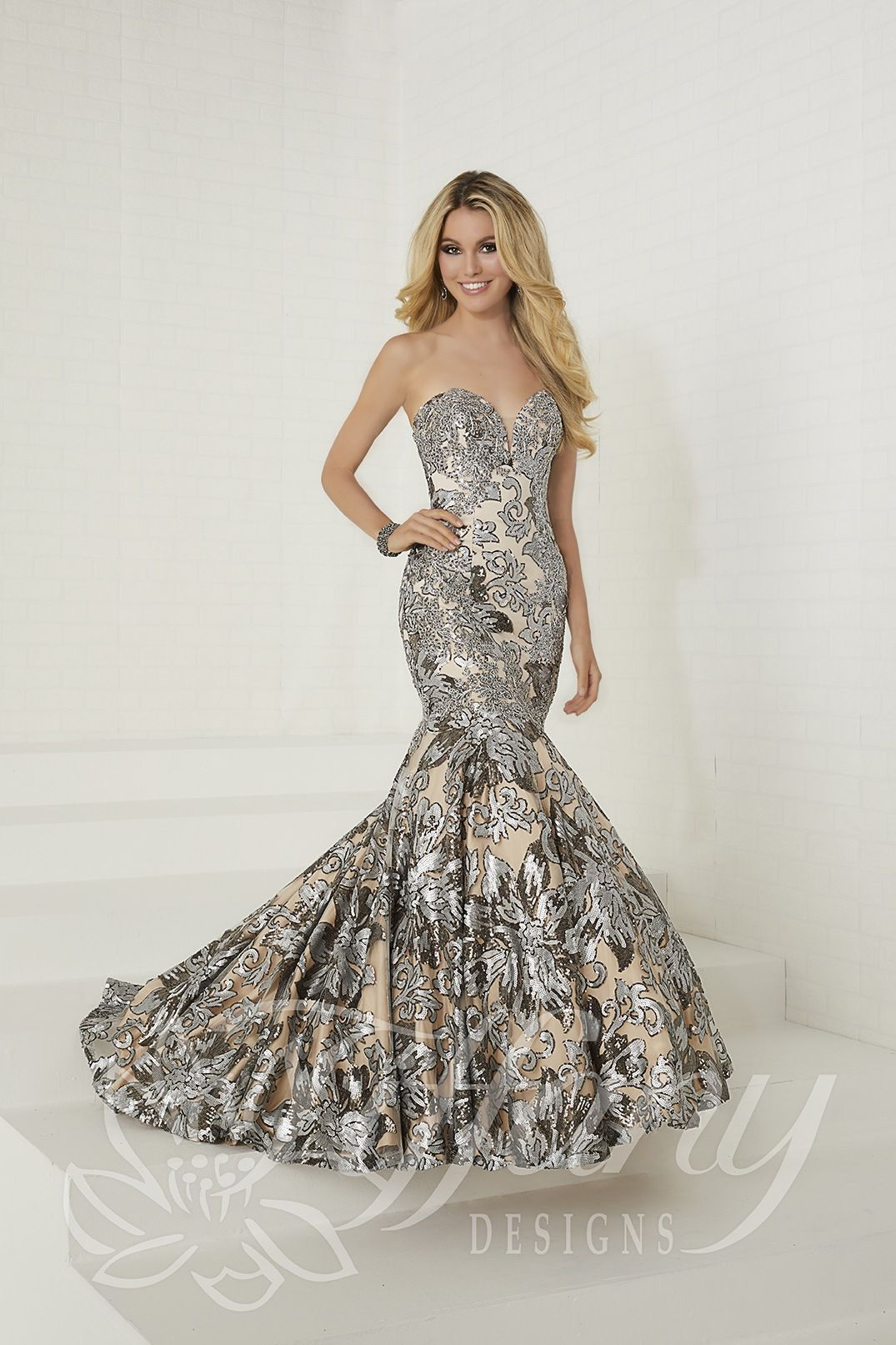 house of wu platinum nude size formal dresses