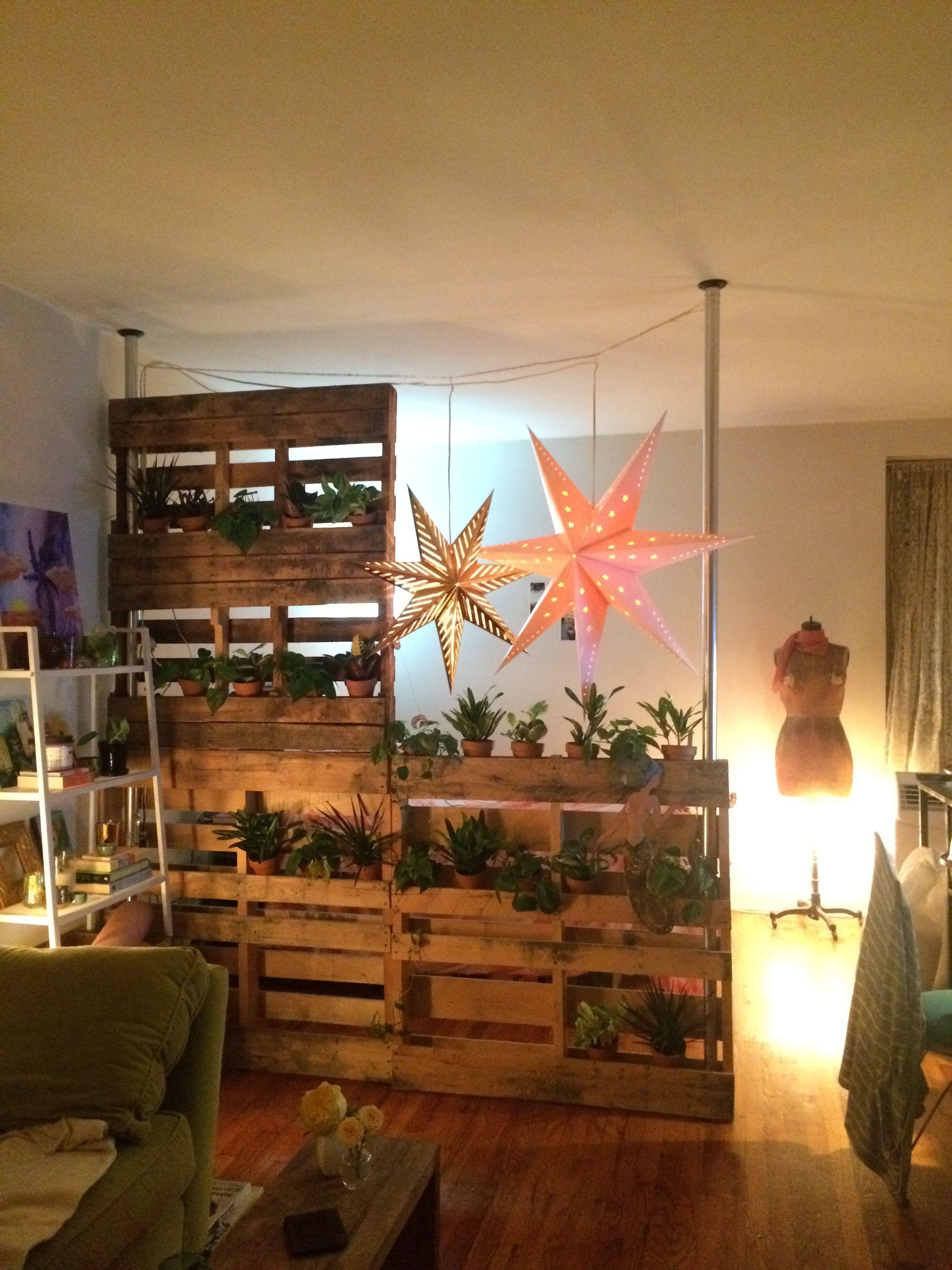 Pallet Wall / Room Divider / Living Wall / Studio Life # ...