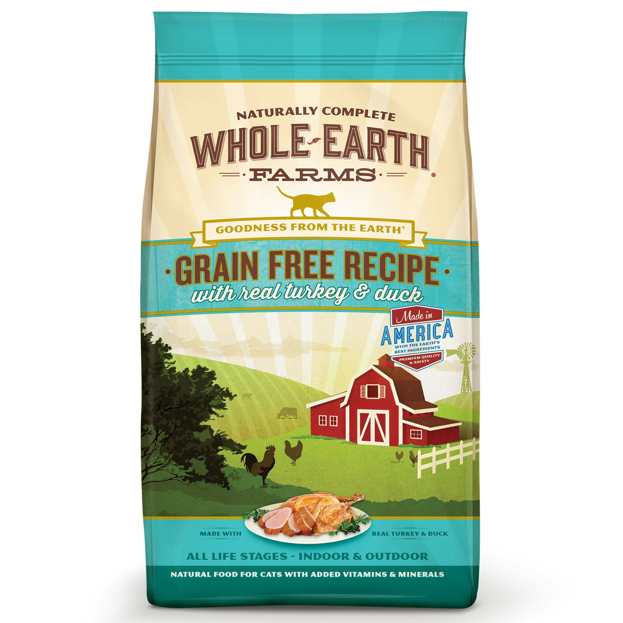 Whole Earth Farms Grain Free Real Turkey Duck Cat Food 5 Lbs Petco In 2020 Kitten Food Dry Cat Food Grain Free Recipes