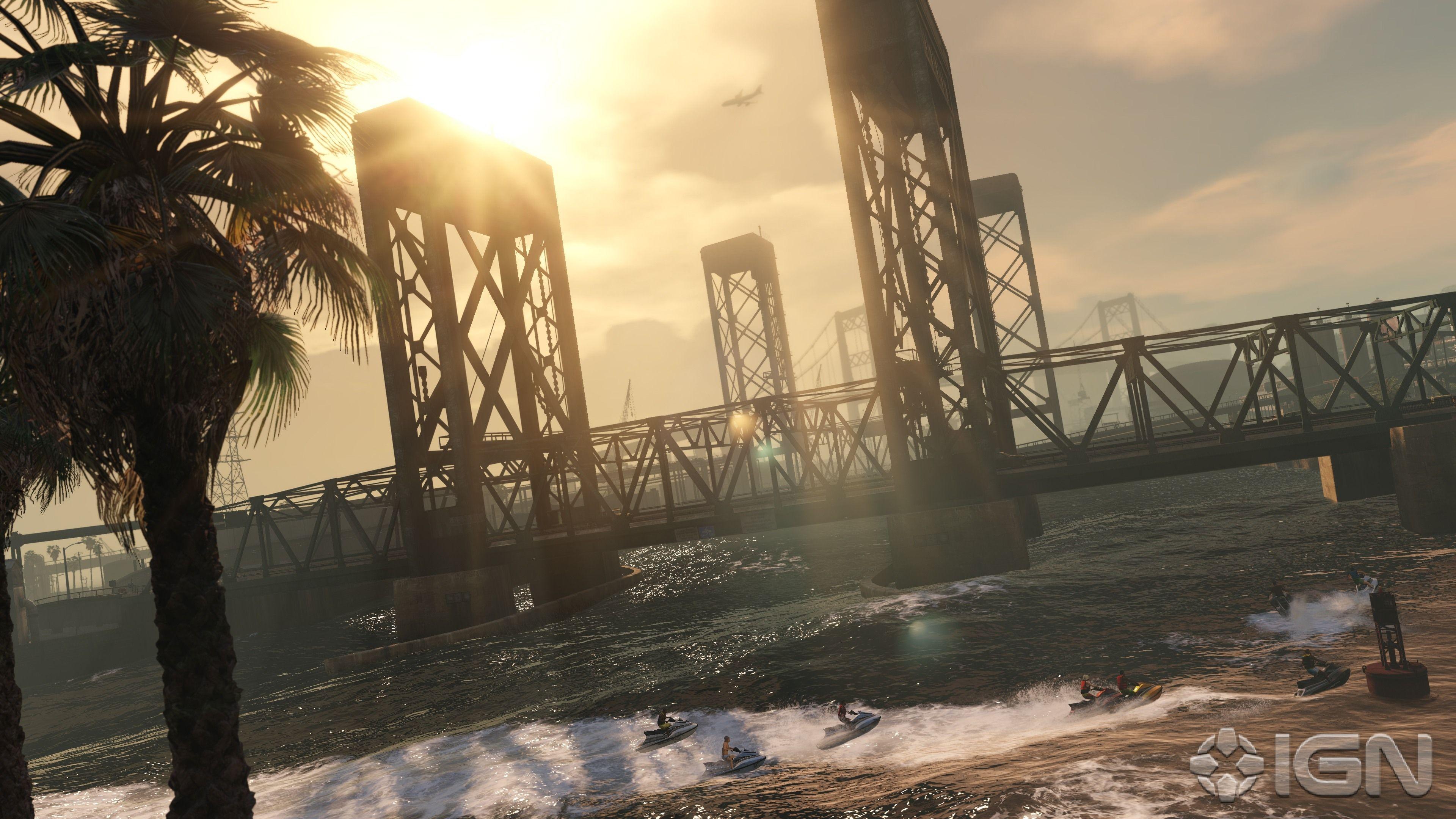 25 New Gta 5 Pc Screenshots At 4k Ign Grand Theft Auto Digital Artwork Photoshop Hd Wallpaper