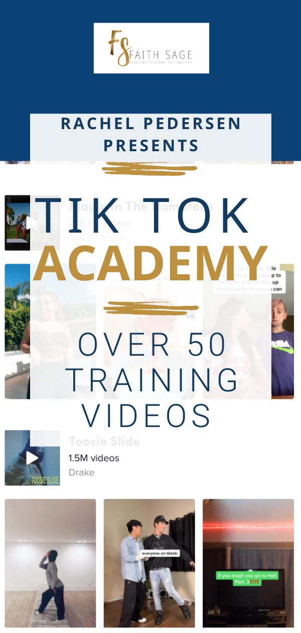 The Tiktok Academy With Rachel Pedersen Video Marketing Strategies Attraction Marketing Video Marketing