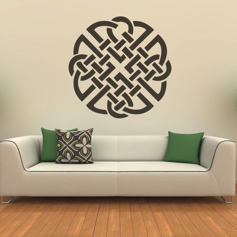 Celtic Wall Art knot celtic print wall art sticker wall decal transfers | wall