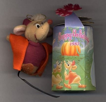 3 Happy Meal Mcdonalds Disney Oliver Dodger Cinderella Gus Mouse Plush Ornament