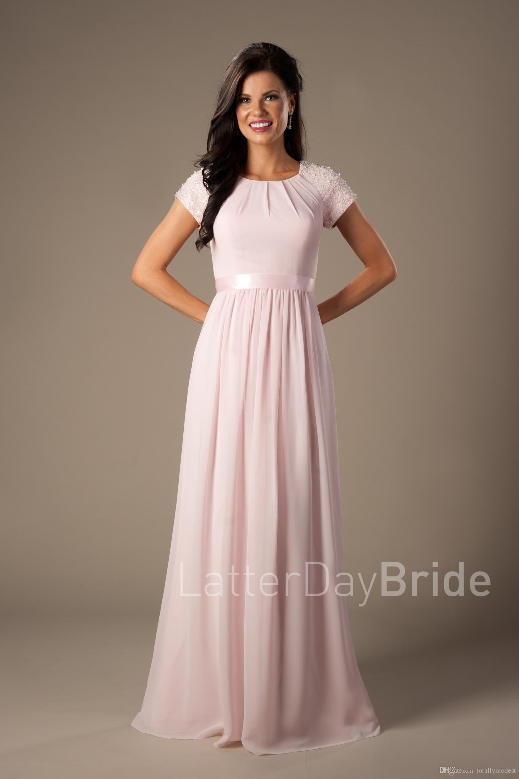 Blue grey wedding dress   pick colors  Modest Bridesmaid Dresses  Pinterest  Modest