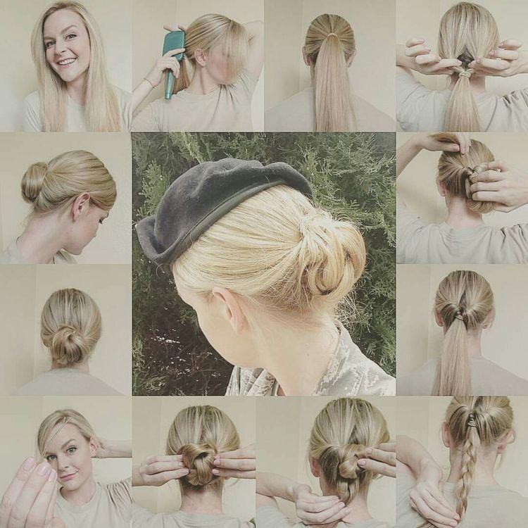 Pin by Terrin Kitch on Hair | Military hair, Military bun
