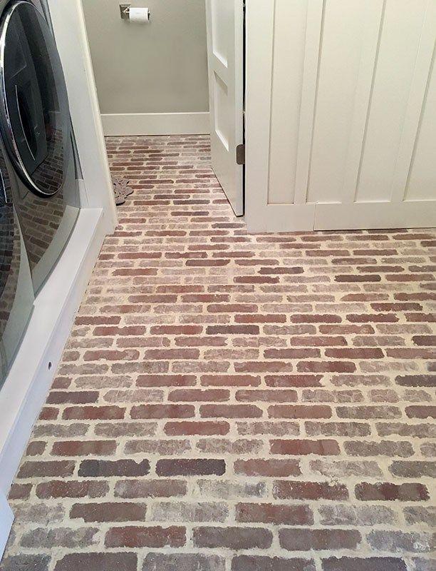 How To Install Thin Brick Floors Brick Flooring Thin Brick Flooring