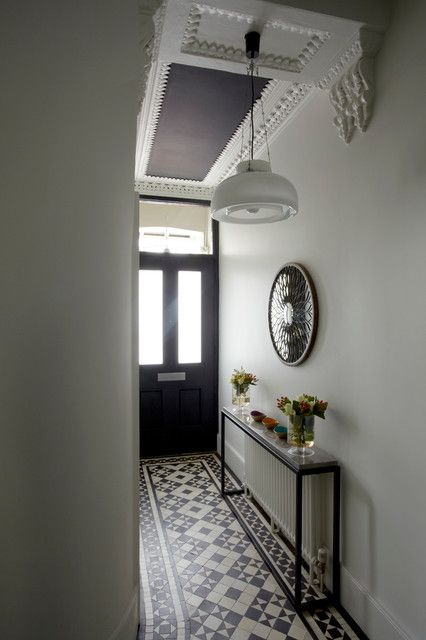 Living Rooms Victorian Style Hallway Edwardian Radiator Marble Top And Belgian Light