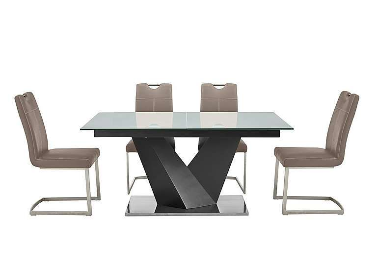 Panama Grey Dining Table and 4 Chairs