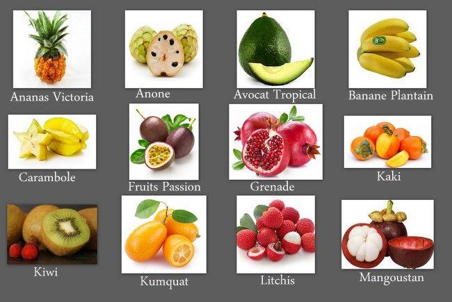 Fruits exotiques dessert frais fruit berries et desserts - Image fruit exotique ...
