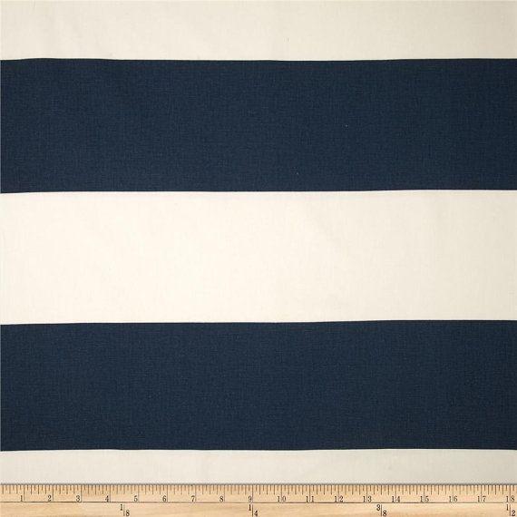 Cabana Horizonal Stripe Navy Premier Prints Fabric By The Yard 54 Wide 1 Yard Or More Decorato Fabric Decor Premier Prints Nursery Window Treatments