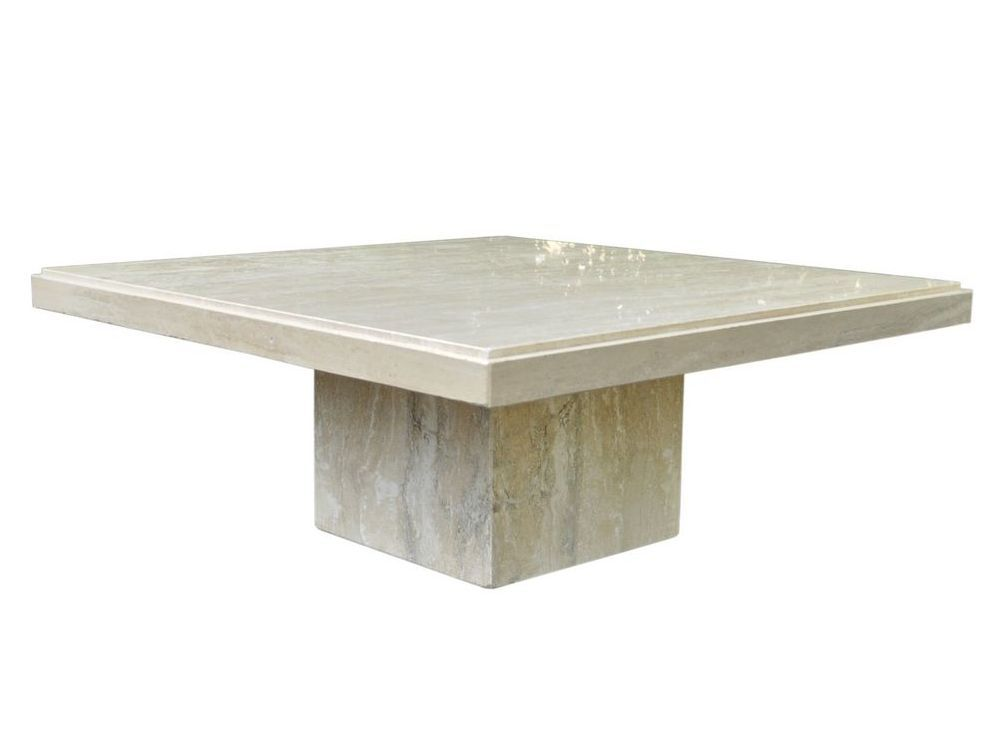 Delicieux Square Travertine Coffee Table Travertine Coffee Table, Coffee Tables,  1970s, Low Tables,