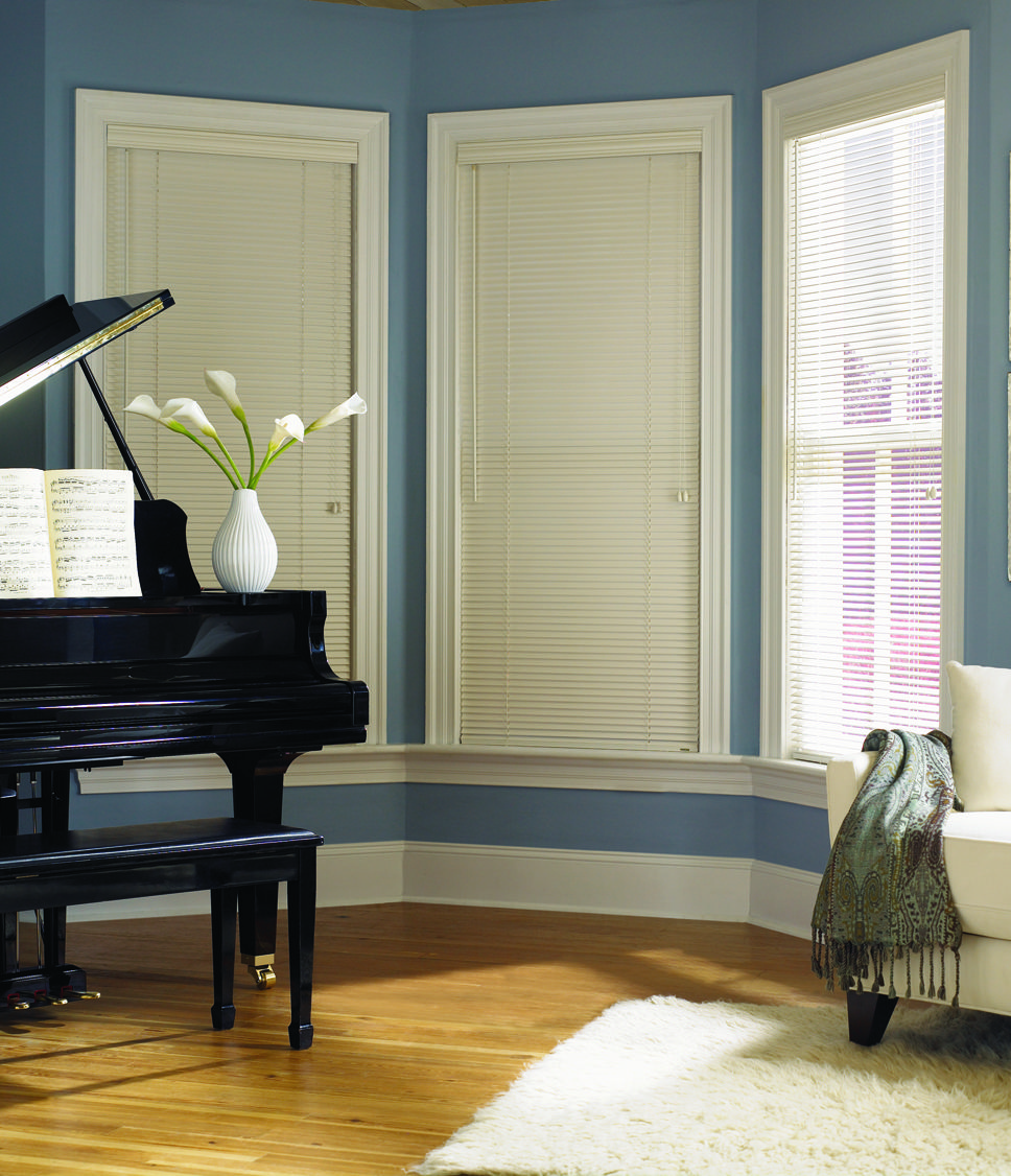 Combining the sleek look of a mini blind with the warmth and depth