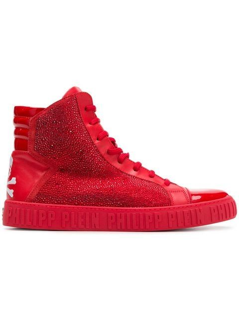 new arrivals c689a 55bf3 Philipp Plein Rhinestone Embellished Hi-top Sneakers - Farfetch