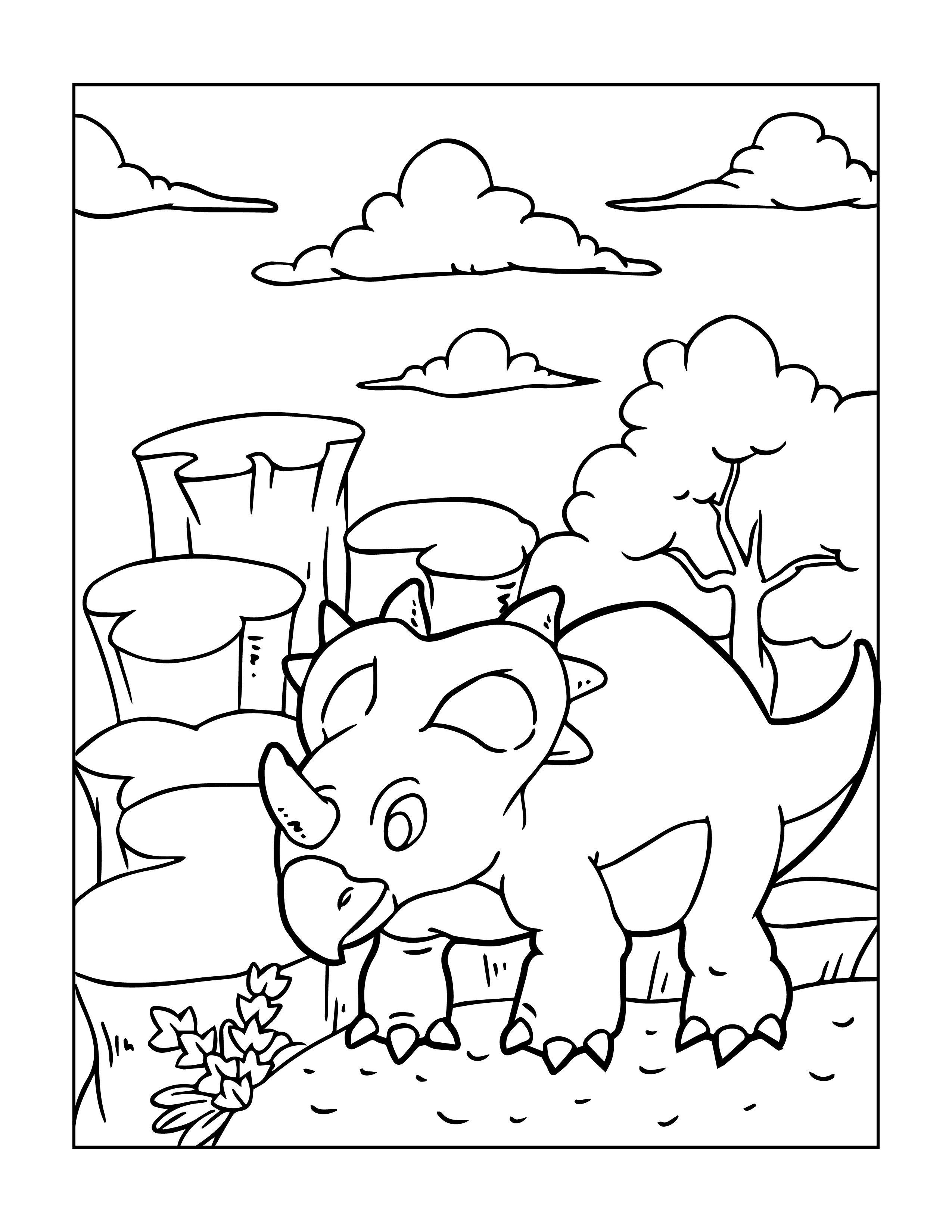 ausmalbild dinosaurier für kinder kostenlos | malvorlagen