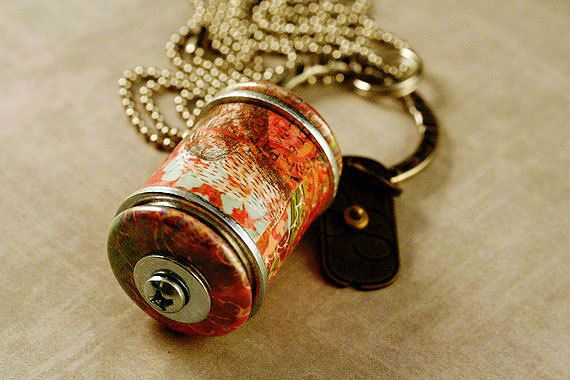 Wine Cork Necklace - Handmade Charm Jewelry - Recycled by Uncorked. $19.00, via Etsy.