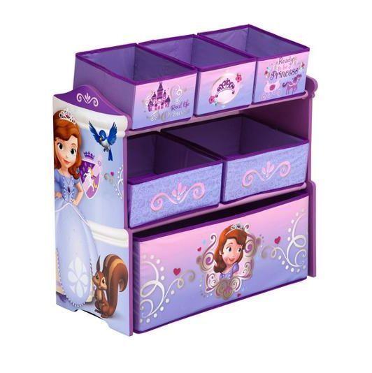Disney Sofia The First Multi Bin Toy Storage Bedroom Kids Box Organizer  Purple #Disney