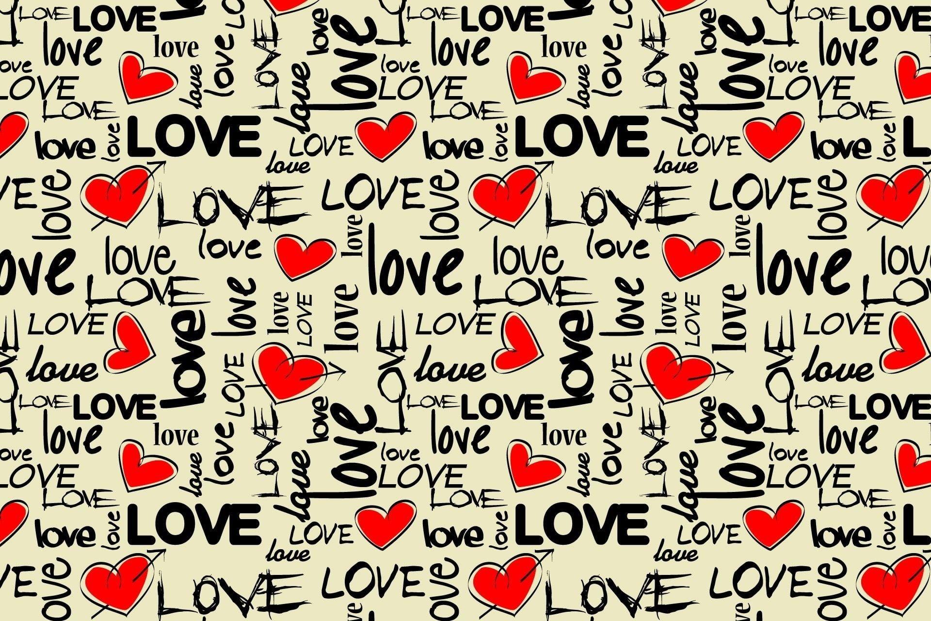 Love Text Illustration Love Art Texture Colorful Heart 1080p Wallpaper Hdwallpaper Desktop Text Illustration Wallpaper Love Picture Letters