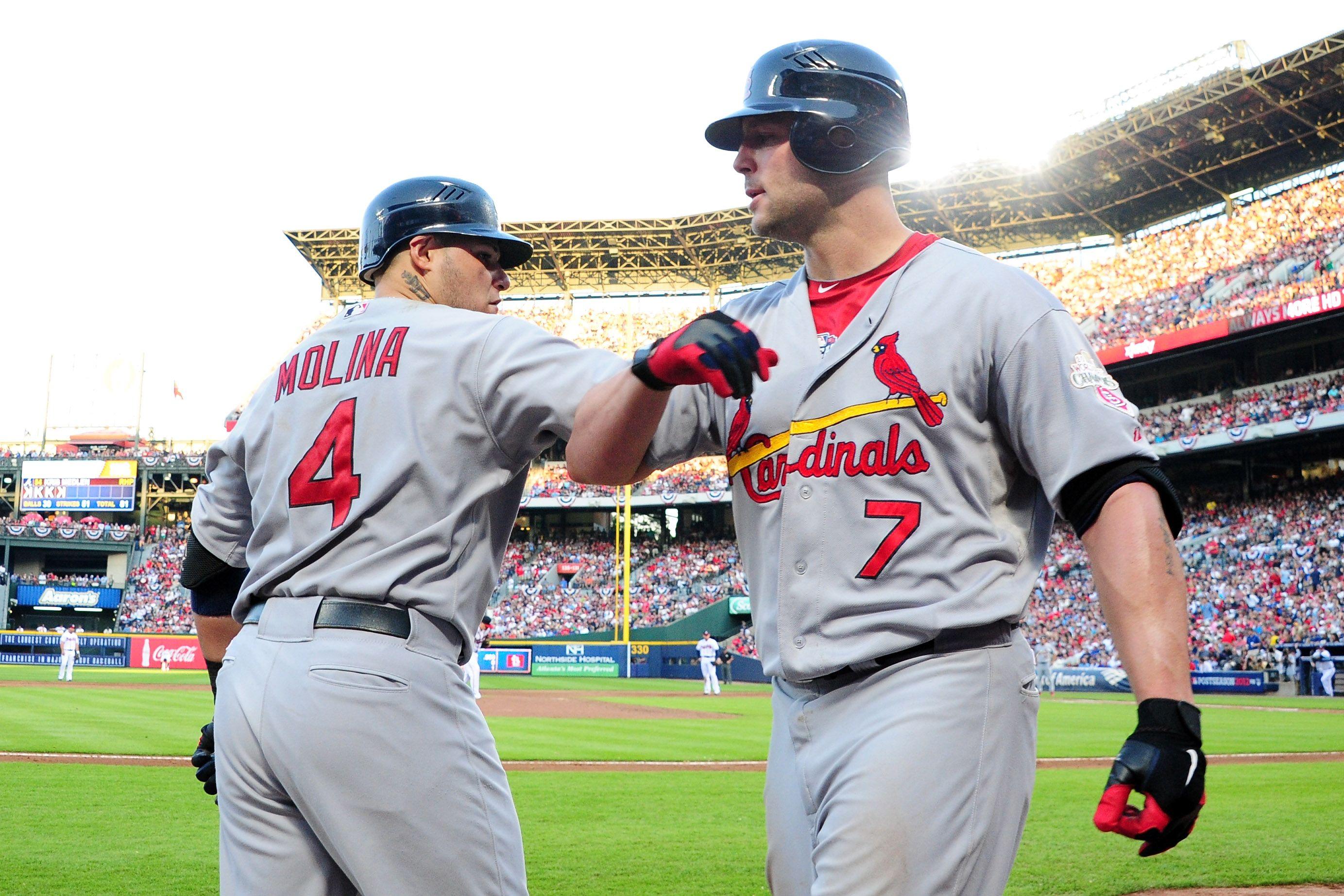 Wild Card Game Matt And Yadi St Louis Cardinals Baseball Sports Cardinals Spring Training