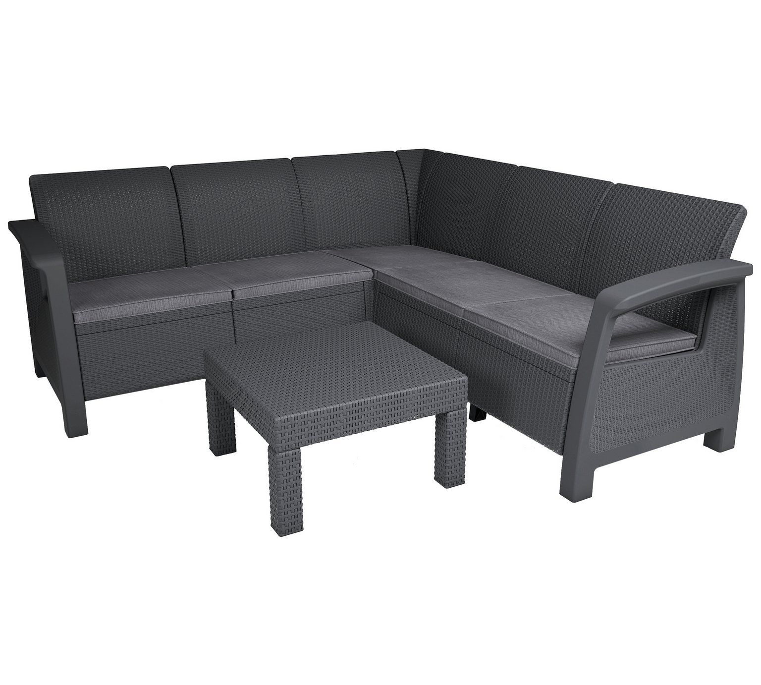 Buy Keter Bahamas Rattan 5 Seater Garden Corner Set Graphite At Argos Co Uk Visit Argos Co Uk Corner Sofa Set Parsons Dining Chairs Garden Table And Chairs