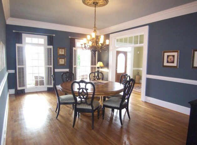 pictures of rooms with white picture rail with dark wall colour - Google  Search. Dining Room ...